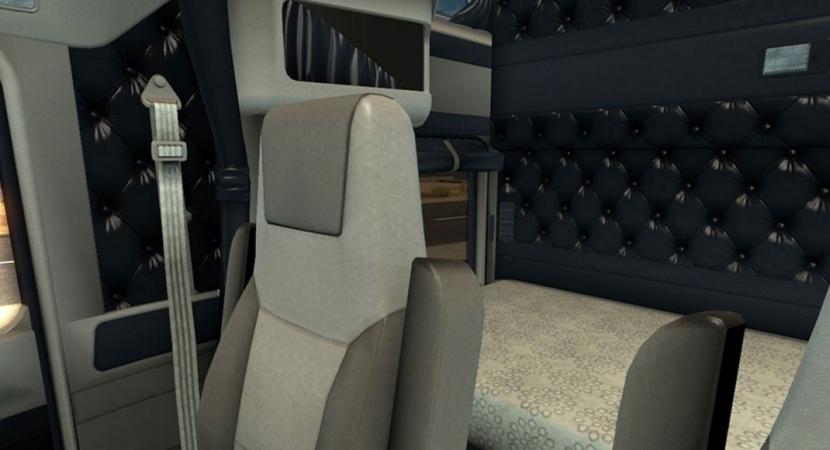 kenworth w900 blue white interior ats mod american truck simulator mod. Black Bedroom Furniture Sets. Home Design Ideas